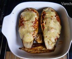 Zapekaný baklažán s kuracím mäsom (fotorecept)