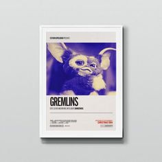 A retro and minimal poster design for the festive comedy horror – Gremlins (1984). When Billy receives an odd Mogwai creature for Christmas from his father, there are 3 rules he must follow: Rule 1. Dont ever get him wet. Rule 2. Keep him away from bright lights. And most importantly... the one