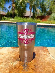 Monogram For Yeti Cup Size Google Search Cricut Hacks And - Custom vinyl decal application fluid recipe