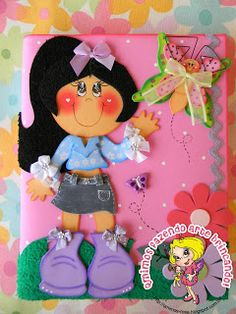 Used Carpet Runners For Sale Key: 4841215986 Paper Punch Art, Paper Art, Foam Crafts, Paper Crafts, Decorate Notebook, Altered Books, Paper Piecing, Cute Cartoon, Girl Dolls