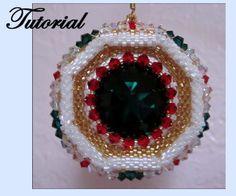 The Large Crystal Wheel Beaded Ornament, Sova Enterprises