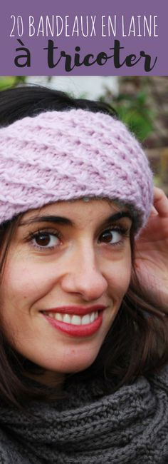 20 free patterns of knitting woolen headbands Crochet Wool, Knitting Wool, Crochet Beanie, Crochet Stitches, Knitted Hats, Crochet Hats, Newborn Crochet Patterns, Knitting Patterns, Lana