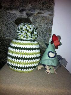 La cuffia millerighe verde e la gallina Priscilla !!!
