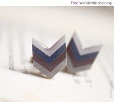 Chevron: Big fan of this design, I think it's the perfect size for a cufflink. Dynamic shape but not too flashy.