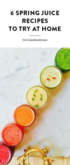 Dust off that juicer and make a mess of the kitchen! We are juicing everything we can get our hands on from the spring farmer's markets