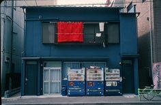 Blue house with red futon  Leica M6, 35 Summicron Asph., Kodachrome   by Jonathan Barrett Adams