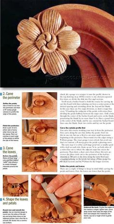 Wood Rosette Carving - Wood Carving Patterns and Techniques | WoodArchivist.com