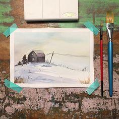 Miałam dzisiaj nic nie wrzucać ale najpierw mnie Monia @timidite.art sprowokowała do namalowania domków potem stwierdziłam że ma dziewczyna rację więc odwiedziłam Petera Sheelera @sheelerart i namalowałam co namalowałam a potem przemknął mi przed oczyma konkurs akwarelowy u @tintaplastyczna więc oto jestem wchodzę cała na biało. To było przeznaczenie. Obok przeznaczenia nie da się przejść obojętnie. Polaroid Film