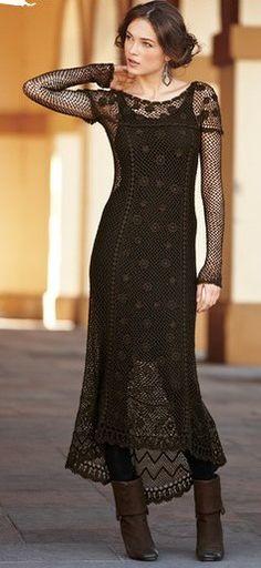 CYNDIE SEE PERUVIANECONNECTION.COM  WITH LACE UP TALL Edwardian Pima Cotton Lace Dress