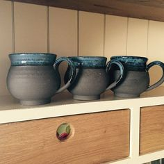 Functional and decorative pottery bowl mug cup by einavcraft