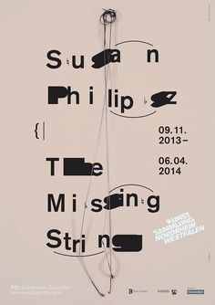 Susan Philipsz, The Missing String, K21 Poster, Design and Art Direction by Sascha Lobe and Simon Brenner, L2M3, 2013