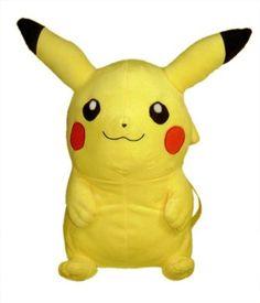 Pokemon Pikachu Plush Backpack by Animations Pokemon Plush, Pikachu, Animal Backpacks, Game Item, Vintage Purses, Plush Dolls, Geek Stuff, Kid Stuff, Animation