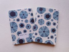 Lovely little notebook. Illustrated cover with urchins pattern.