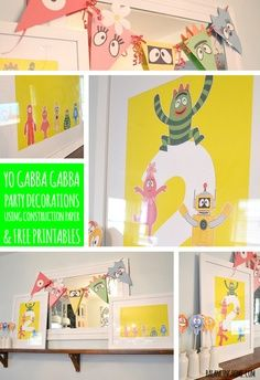 yo gabba gabba pictures to printable pictures | simple and affordable Yo Gabba Gabba Birthday decorations using ...
