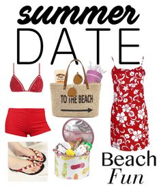 """""""Summer Date: Beach Fun"""" by rlshaw on Polyvore featuring Linum Home Textiles, Zimmermann, Straw Studios, Picnic at Ascot, Oliver Peoples, beach and summerdate"""