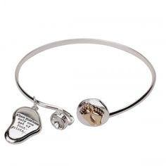 The Footprints That Carried You Bangle Bracelet - On Sale