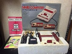 Famicom Console Japan NTSC-J Nintendo Family Computer boxed set AC RF Manuals
