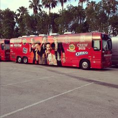 Look what the tour crew are rolling in, on this US tour!
