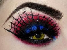18 Eye Makeup Choices For An Artistic Halloween - Exquisite Girl Yeux Halloween, Halloween Eye Makeup, Halloween Eyes, Witch Makeup, Halloween Spider, Spider Costume, Diy Halloween, Halloween Flowers, Halloween Inspo