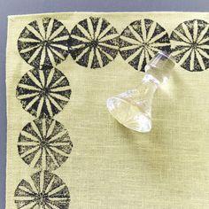 Stoff bedrucken - bunte Geschirrtücher, Taschen etc. - glaskorken