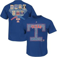 Texas Rangers Majestic Cooperstown League Domination T-Shirt – Royal Blue - $27.99