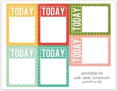 printable tags to tell them about what they will be for today - awesome, amazing, kind . . . Ahhh the power of suggestion