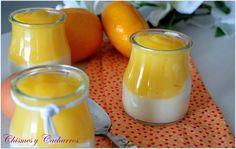 Vasitos de griego con crema de naranja   Cocina