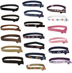 Myself Belts Velcro Toddler Kids Boy/Girl Leather/Fabric - Many Sizes & Designs! #MyselfBelts