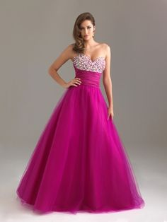 Purple Sweetheart Night Moves Prom Dress 6465: