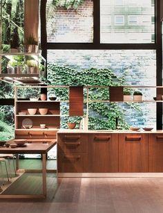 BROWN / GREEN - Kitchen Losa Ghini for Snaidero