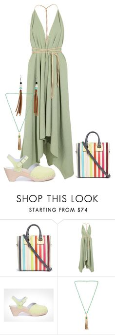 """Pistachio Fringe"" by christined1960 ❤ liked on Polyvore featuring Sophie Hulme, Caravana, Maguba, Ettika and M&F Western"