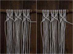 Kaarnan katveessa: Kuvalliset ohjeet: makramee seinävaate Clothes Hanger, Diy And Crafts, Knitting, Crochet, Creative, Knits, Diy Ideas, Instagram, Challenges