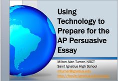 ap language synthesis essay technology