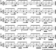 39 Best drum notation images in 2019 | Drum sheet music