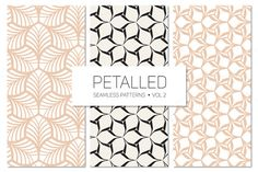 Petalled Seamless Patterns Set 2 by Curly_Pat on @creativemarket
