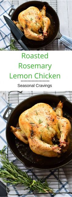 Roasted Rosemary Lemon Chicken - a quick and easy weeknight dinner that always a hit.