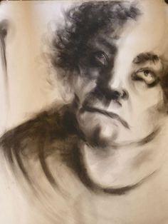 Charcoal on Paper -100*70 cm-By Elaheh Riyazat