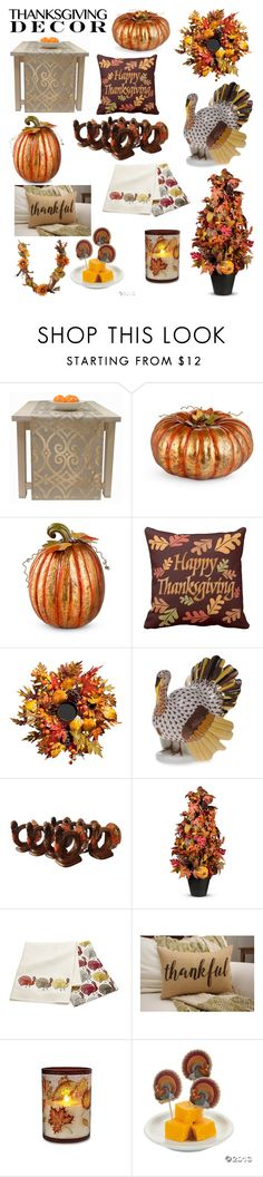"""""""Thanksgiving Decor"""" by teddyrocks22 ❤ liked on Polyvore featuring interior, interiors, interior design, home, home decor, interior decorating, Improvements, Herend, Crate and Barrel and Northlight Homestore"""