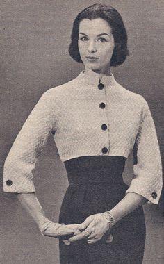 Vintage Cropped Shorty Jacket Knitting Pattern