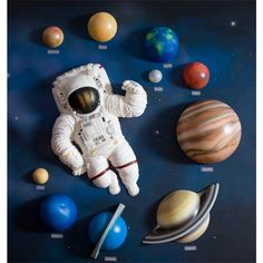 Baby Furniture & Bedding 3D Solar System Wall Art Decor