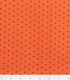 Halloween Spooky Prints Fabric-Black Dot on Orange