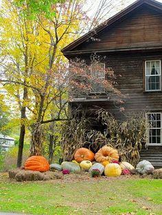 Autumn.  I like the casualness of this pic...anywheretown...fun loving folks making crazy-shape-size-pumpkin assemblage