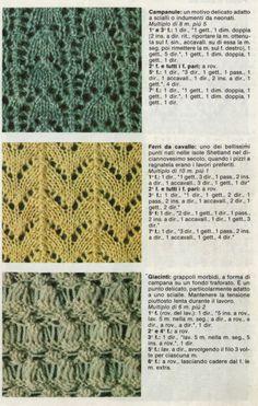 I punti traforati nel lavoro a maglia sono tutti quei punti che presentano un motivo aperto . Ne esistono moltissimi con tante variazi... Lace Knitting Patterns, Knitting Charts, Easy Knitting, Knitting Stitches, Bind Off, Drops Design, Pattern Books, Knit Crochet, Embroidery