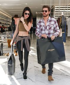 Pin for Later: Can't-Miss Celebrity Pics! On Tuesday, Kendall Jenner and Scott Disick had a shopping date in LA.