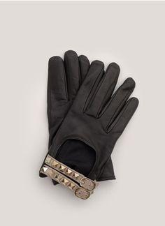 Valentino - Studded leather gloves | Black Short Gloves | Womenswear | Lane Crawford - Shop Designer Brands Online