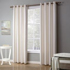 Madison Park Kauna White Palm Leaf Burnout Lightweight Sheer Curtain Panel  With Grommet Finish (63 Inches   50 X 63) | Pinterest | Sheer Curtains, ...