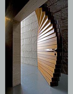cool door designs. Perfect Door Curtain Door By Matharoo Associates The Massive Door Is Made Of 40  Sections Thick Burma Teak And Sits Between The Entranceu0027s Concrete Walls In Cool Designs