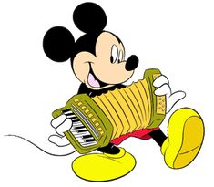 Mickey playing a good tune with his accordion. Mickey Mouse Drawings, Mickey And Friends, Walt Disney World, Disney Characters, Fictional Characters, 1, Clip Art, Play, Shop Ideas