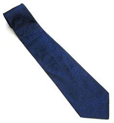 Vintage Necktie Paisley 1980's Royal Blue Tie 4 by sweetie2sweetie, $9.99