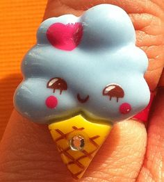 Adjustable Kawaii Ice Cream Ring by Sillysockmonkeys on Etsy, $2.50